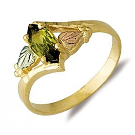 Landstrom's® 10K Black Hills Gold Ladies Ring with Soude Peridot