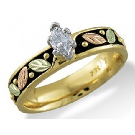 Landstrom's® 14K Black Hills Gold Ladies Engagement Ring with Diamond