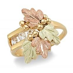 Landstrom's® 10K Black Hills Gold Ring with Three Diamonds