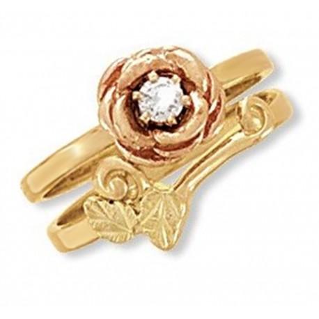 Landstrom's® 14K Black Hills Gold Rose Engagement Ring Set w Diamond