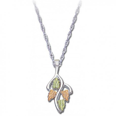 BLACK HILLS GOLD .925 STERLING SILVER LADIES PENDANT NECKLACE