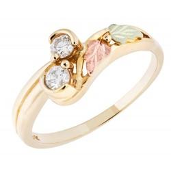 Landstrom's® 10K Black Hills Gold Ring w 1/5TW Diamond