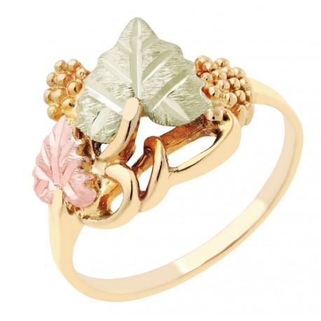 Landstrom's® Classic 10K Black Hills Gold Ladies Leaf Ring