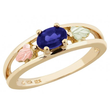 Landstrom's® 10K Black Hills Gold Ladies Ring with Sapphire