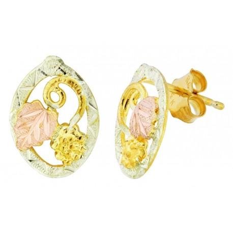 Landstrom's® Small 10K Black Hills Gold Oval Earrings