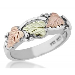 Mt Rushmore Black Hills Gold on Sterling Silver Ladies Ring