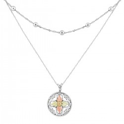 Landstrom's® Unique Sterling Silver Necklace with Circle Pendant