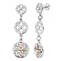 Landstrom's® Sterling Silver Circle Dangle Earrings