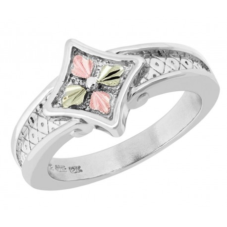 Landstrom's® Sterling Silver Ladies Ring with Four Leaves
