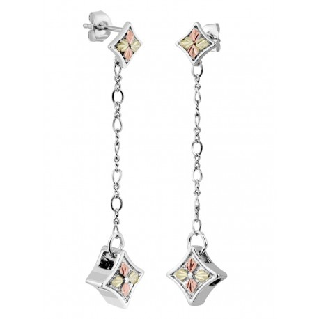 Landstrom's® Sterling Silver Dangle Earrings with Four Leaves