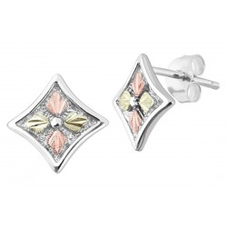 Landstrom's® Sterling Silver Post Earrings with Four Leaves