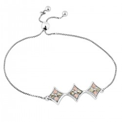 Landstrom's® Sterling Silver Bolo Bracelet with 12K Gold Leaves