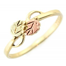10k Ladies Black Hills Gold Ring with Leaves