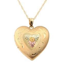 Mt. Rushmore Gold-Filled Heart Locket with Chain