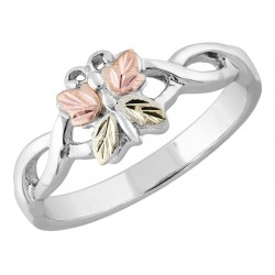 Black Hills Gold on .925 Sterling Silver Butterfly Ring