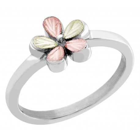 Mt. Rushmore Sterling Silver Lovely Flower Ring