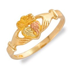 Mt. Rushmore 10K Gold Ladies Claddagh Ring