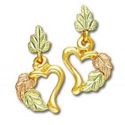 Landstrom's® 10K Black Hills Gold Heart Earrings