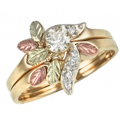 10K BLACK HILLS GOLD LADIES DIAMOND ENGAGEMENT WEDDING RING