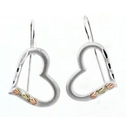 Landstrom's® Black Hills Gold on Sterling Silver Heart Earrings