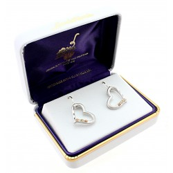 Landstrom's® Black Hills Gold on Sterling Silver Heart Earrings
