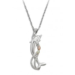 Landstrom's® Black Hills Gold on Sterling Silver Dolphin Pendant
