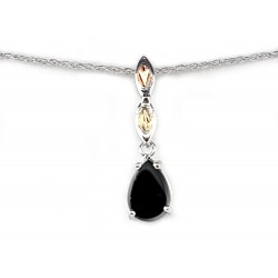 Landstrom's® Sterling Silver Onyx Pendant