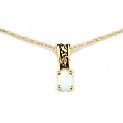 Landstroms 10K Black Hills Gold Small Pendant with Opal