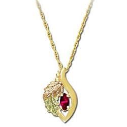 Small Landstrom's® 10K Gold Pendant with Ruby