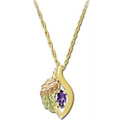 Small Landstrom's® 10K Gold Pendant with Amethyst