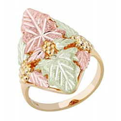Landstrom's® 10K Yellow Gold Ladies Leaf Ring