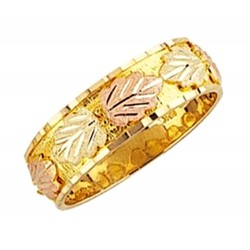 Mt. Rushmore 10K Yellow Gold Band Ring For Men's