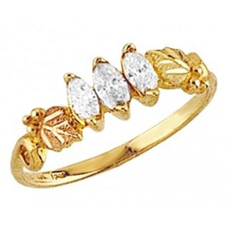 Mt. Rushmore 10K Yellow Gold Ladies Ring with 1/3CT TW Diamond