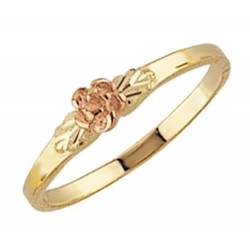 Mt. Rushmore 10K Yellow Gold Thin Rose Ring