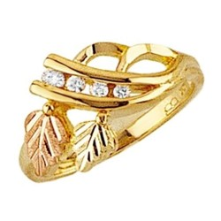 Mt. Rushmore 10K Yellow Gold 1/10TW Diamond Ring