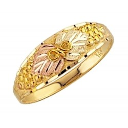 Mt. Rushmore 10K Yellow Gold Ladies Ring with Grapes