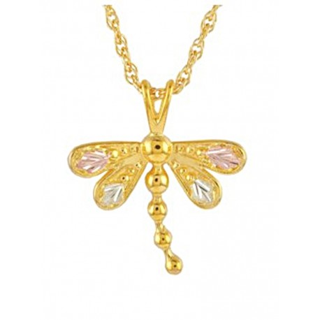 Mt. Rushmore Small 10K Gold Dragonfly Pendant