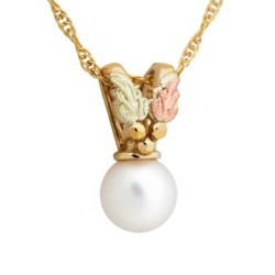 Mt. Rushmore Small 10K Gold Pearl Pendant