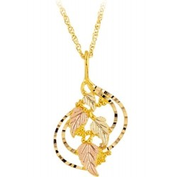 10K Black Hills Gold Diamond Cut Edge Pendant