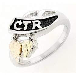 Mt. Rushmore Sterling Silver Ladies CTR Ring
