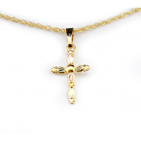 Landstrom's® 10K Black Hills Gold Small Cross Pendant