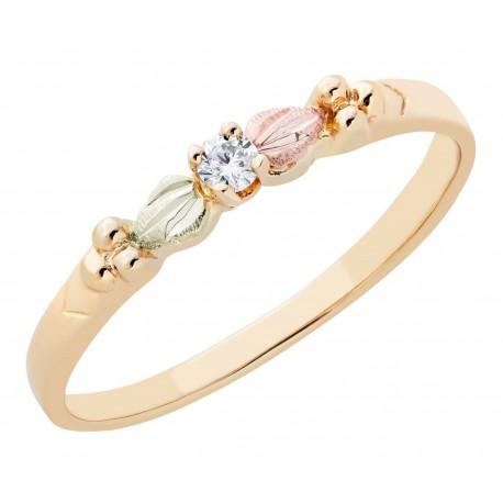 BLACK HILLS GOLD .05 TW DIAMOND ROSE RING for LADIES