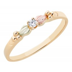 BLACK HILLS GOLD .05 TW DIAMOND ROSE RING for LADIES