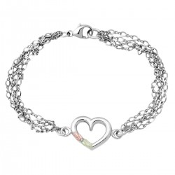 Landstrom's® Black Hills Gold on Sterling Silver Four Strands Bracelet w Heart