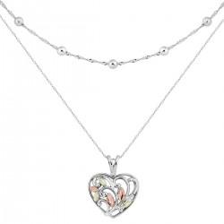 Landstrom's® Black Hills Gold on Sterling Silver Heart Necklace