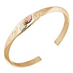 Landstrom's® 10K Black Hills Gold Ladies Cuff Bracelet