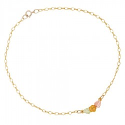 Landstrom's® 10K Black Hills Gold Ankle Chain with Rose