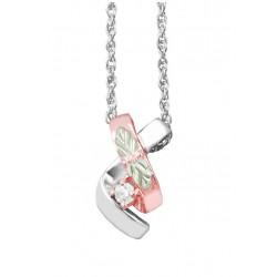 Landstrom's® Rose Gold on Sterling Silver Pendant w CZ