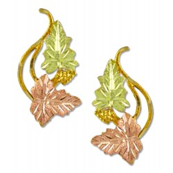 Landstrom's® 10K Black Hills Gold Grape & Leaves Earrings