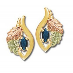 Landstrom's® 10K Black Hills Gold Earrings with Sapphire